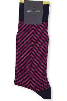 DUCHAMP Zig zag texture socks