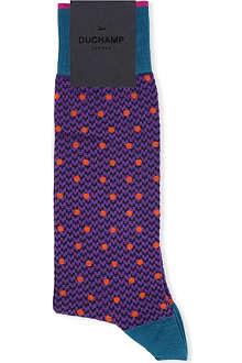 DUCHAMP Dogtooth and polka dot socks
