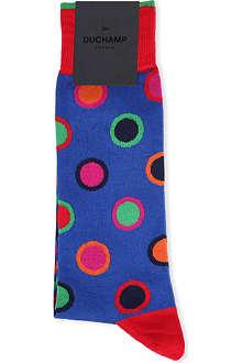 DUCHAMP Polka dot circle cotton socks