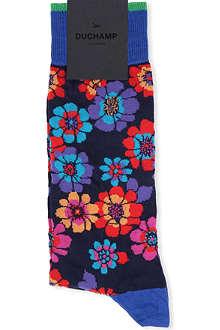 DUCHAMP Cotton floral socks
