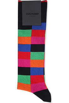 DUCHAMP Harlequin print socks