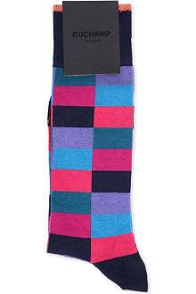 DUCHAMP Harlequin print socks