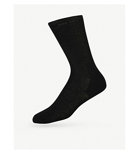 HUGO BOSS Logo socks (Black