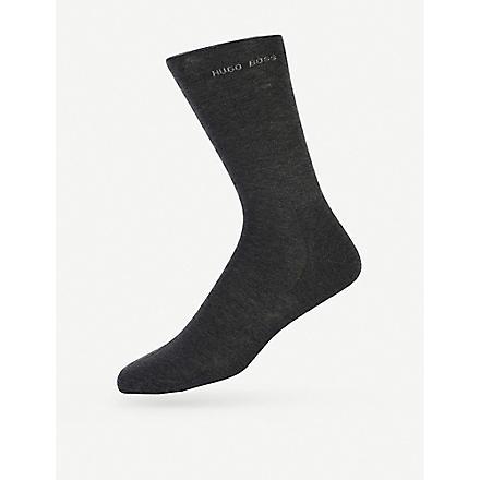 HUGO BOSS Logo socks (Charcoal