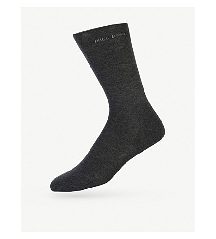 HUGO BOSS Logo socks (Charcoal