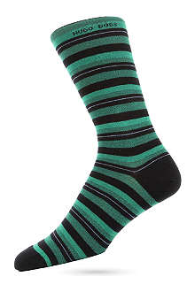 HUGO BOSS Combed cotton striped socks
