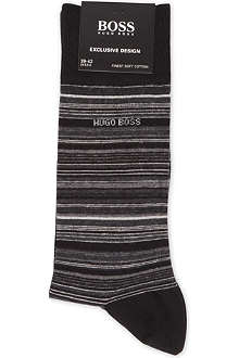 HUGO BOSS Striped combed cotton socks
