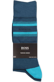 HUGO BOSS Pack of two combed cotton socks