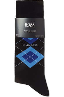 HUGO BOSS Set of two argyle socks