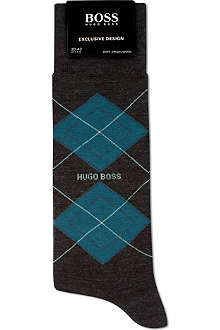 HUGO BOSS Argyle logo sock