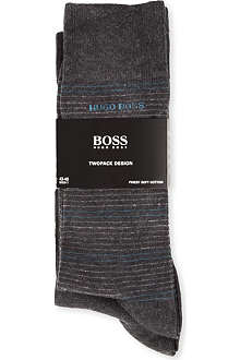 HUGO BOSS Plain striped socks