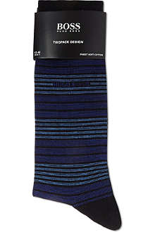 HUGO BOSS Set of two striped socks