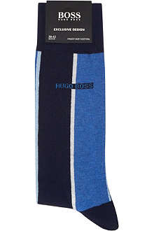 HUGO BOSS Block striped socks