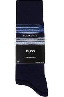 HUGO BOSS Two pack of thin striped socks