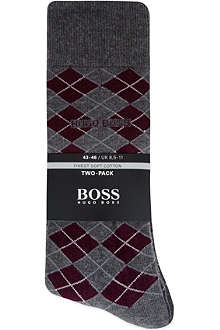 HUGO BOSS Soft cotton socks two-pack