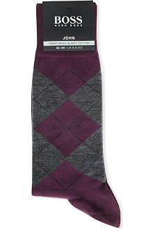 HUGO BOSS Soft cotton Argyle socks