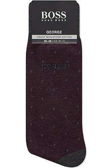 HUGO BOSS Diamond dot mercerised socks