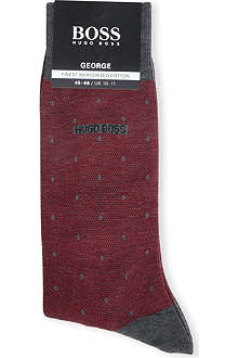 HUGO BOSS George pin-dot socks