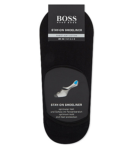 HUGO BOSS Stay-On Shoeliner invisible socks (Black