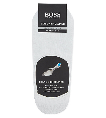 HUGO BOSS Stay-On Shoeliner invisible socks (White