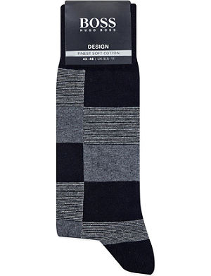 HUGO BOSS Multi square socks