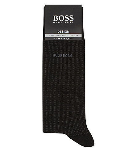 BOSS Design micro-dash cotton socks (Blk