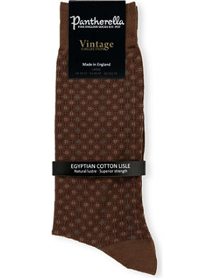 PANTHERELLA Diamond-patterned cotton-blend socks