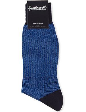 PANTHERELLA Optical squares cotton socks