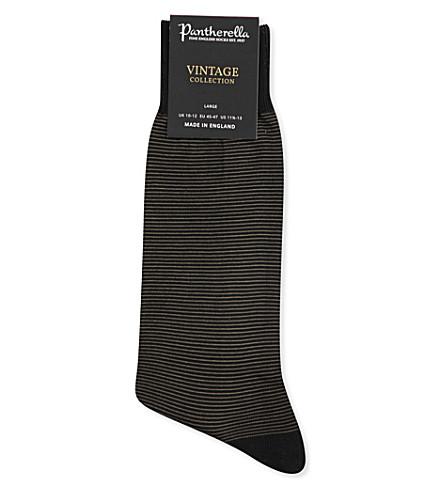 PANTHERELLA Seymour cotton lisle socks (Black+grey