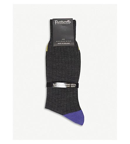 PANTHERELLA Stratford merino wool-blend socks (Grey