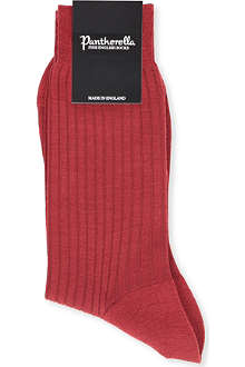 PANTHERELLA Laburnum ribbed socks