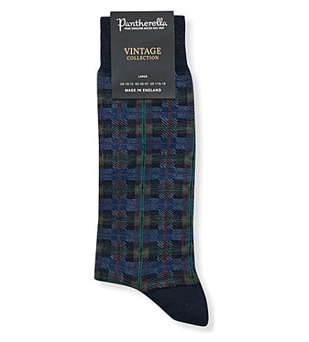 PANTHERELLA Chadwell tartan socks (Navy+mix