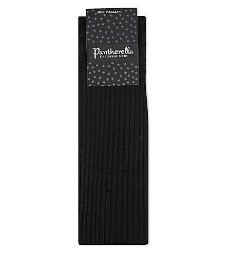 PANTHERELLA Silk knee-high socks (Black