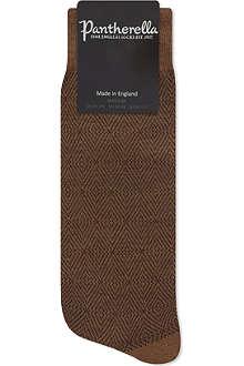PANTHERELLA Diamond print wool socks