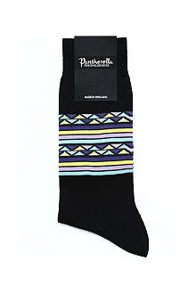 PANTHERELLA Aztec striped knit socks