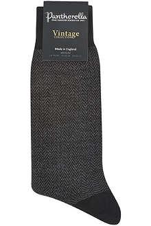 PANTHERELLA Vintage herringbone socks
