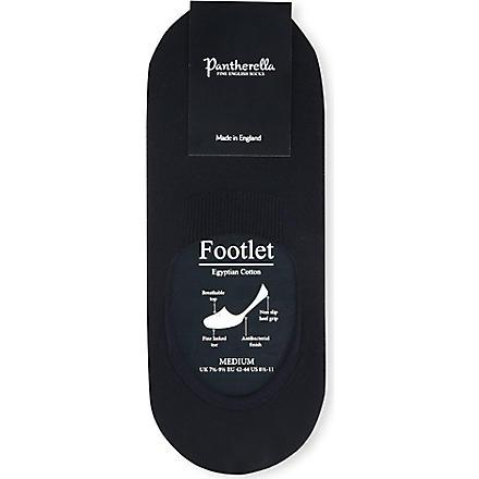 PANTHERELLA Invisible footlet socks (Black