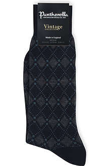 PANTHERELLA Retro diamond harlequin socks