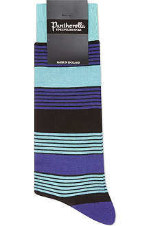 PANTHERELLA Multi-bar striped cotton socks