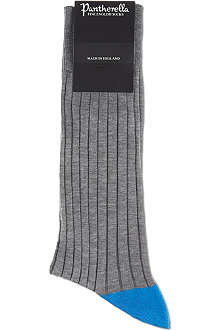 PANTHERELLA Contrast heel-toe ribbed socks