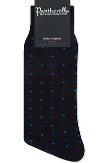 PANTHERELLA Mini spot merino wool socks