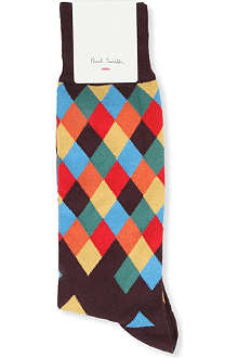 PAUL SMITH Faded harlequin socks