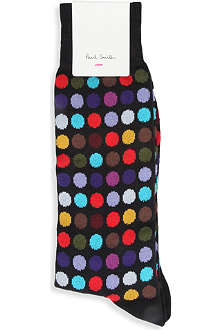 PAUL SMITH Multicoloured polka-dot socks