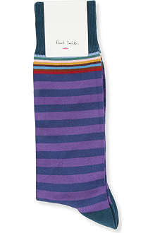 PAUL SMITH Multi top-stripe sock