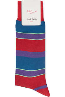 PAUL SMITH Striped mercerised cotton socks