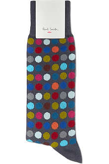 PAUL SMITH Polka dot cotton socks