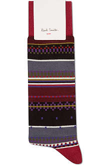 PAUL SMITH Geometric print socks