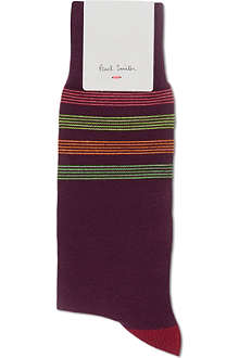 PAUL SMITH Toe and top striped socks