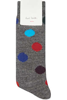PAUL SMITH Wool-blend polka dot socks