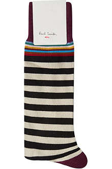 PAUL SMITH Top stripe socks